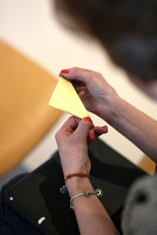 origami folding hands