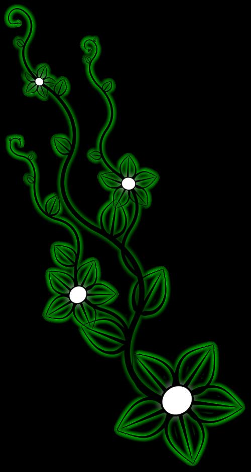 ornament flower leaves