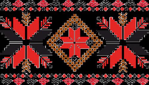 ornament stars textile