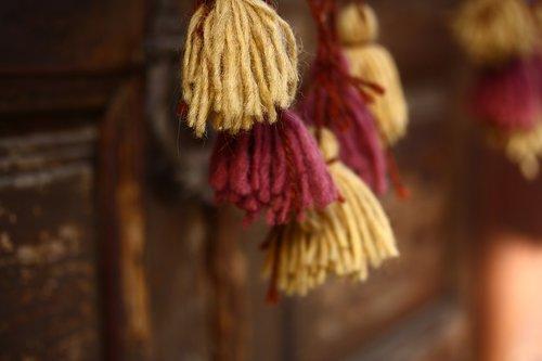 ornament  fabric  tassel
