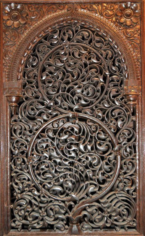 Ornamental Wooden Panel