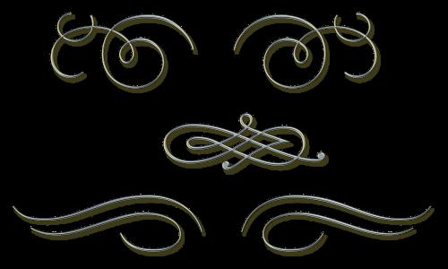 ornate metal silver