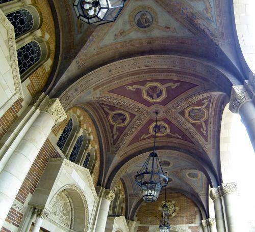 Ornate Ceiling Of UCLA Royce Hall