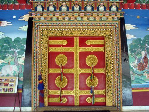 ornate door monastery mundgod