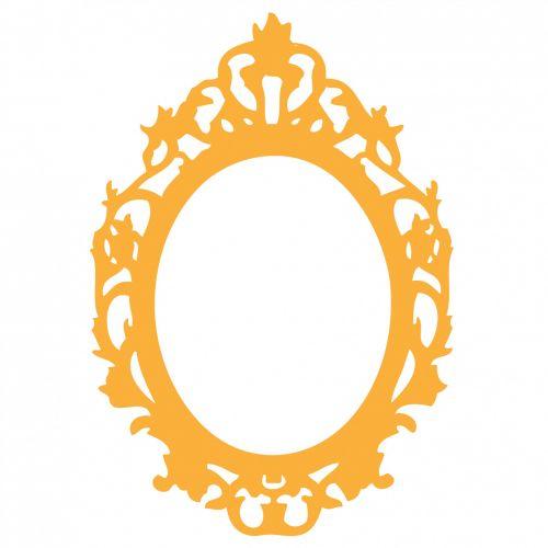 Ornate Orange Frame Clipart