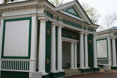 Ornate  Pavilion With Pillars