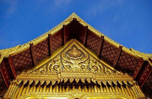 ornate thai pavilion gable  olbrich  botanical