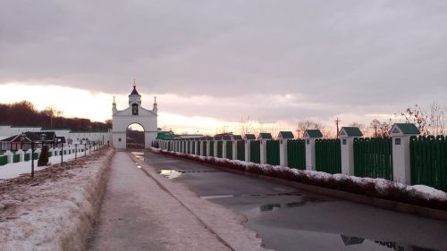 orthodoxy monastery winter