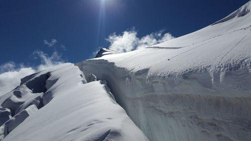 ortler crevasse glacier