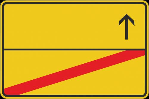 ortsausgangsschild shield road