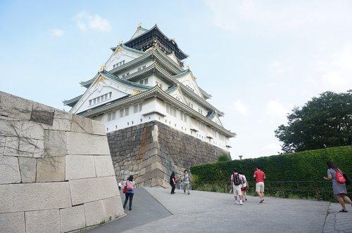 osaka  castle  japan