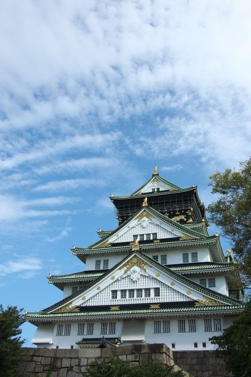 osaka,castle,japanese,architecture,travel,heritage,traditional