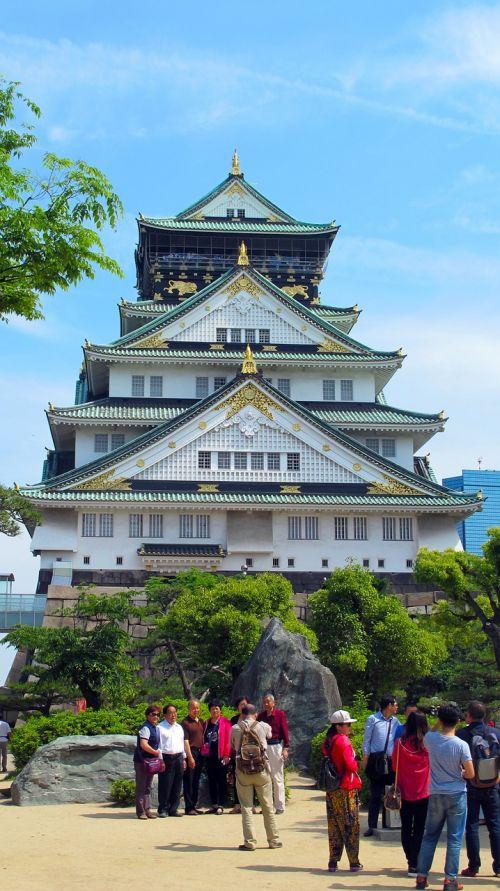 osaka castle japan five