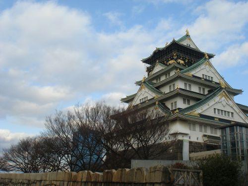 osaka castle castle sky