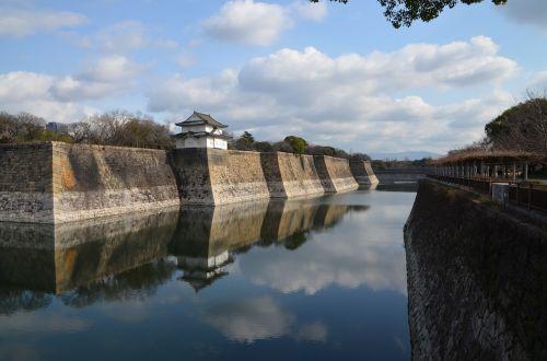 osaka castle outer moat moat