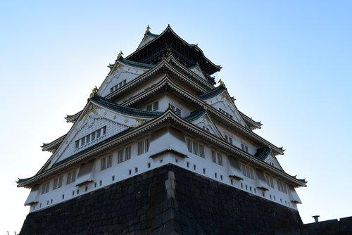 osaka castle  osaka  japan