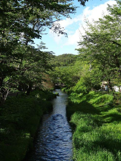 oshino hakkai river clear stream