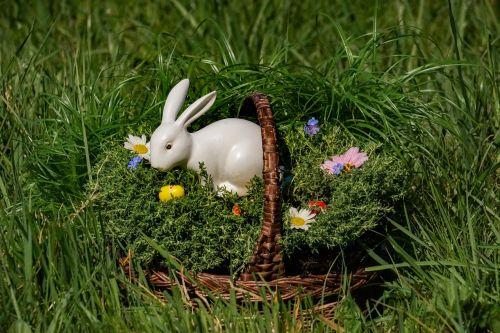 osterkorb easter bunny white easter eggs