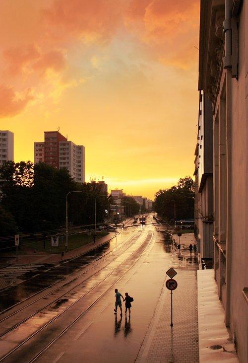 ostrava  city  rain
