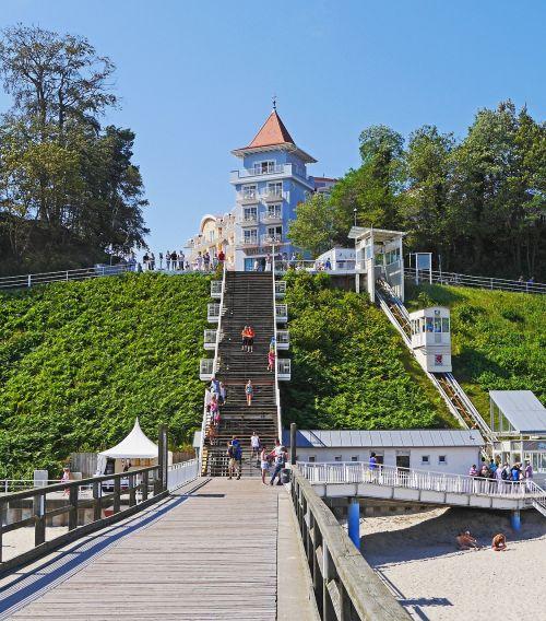 ostseebad sellin rügen island free stairs to the pier