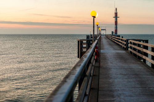 ostseebad wustrow sea bridge water
