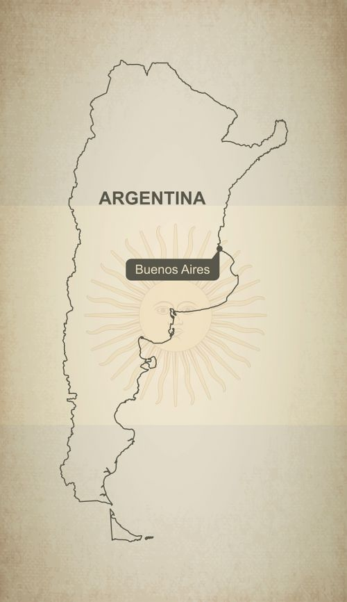 oultine map argentina