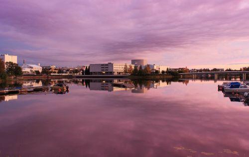 oulu finland sunset