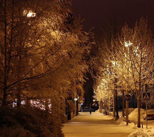 oulu finland night