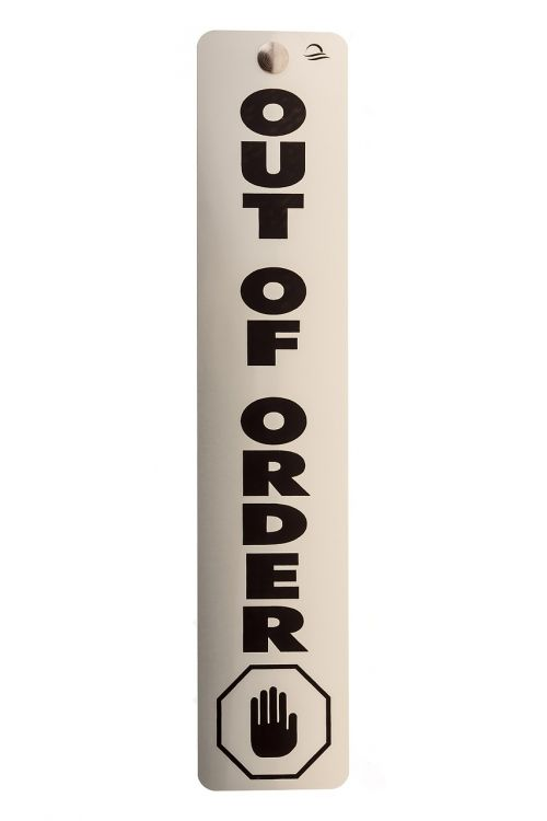 out of order sign banner
