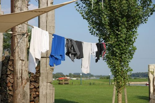 outdoor clothesline clothing