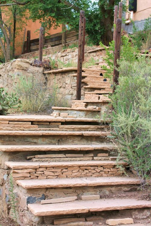 outdoor stairs stone steps stone