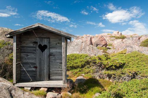 outhouse wood toilet