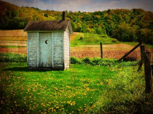 outhouse old country