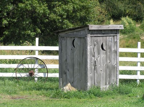 outhouse rural rustic