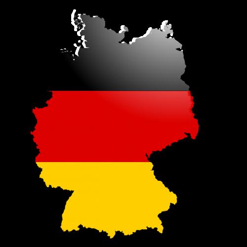outline germany flag