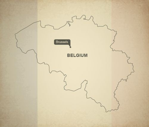 outline map belgium