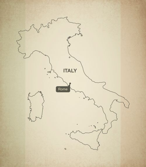 outline map italy