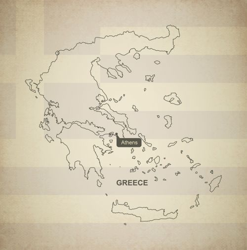 outline map greece