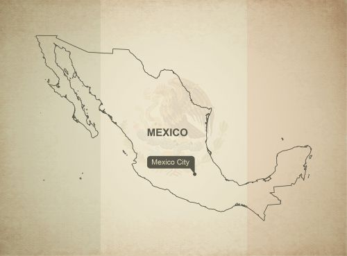 outline map mexico