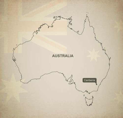 outline map australia