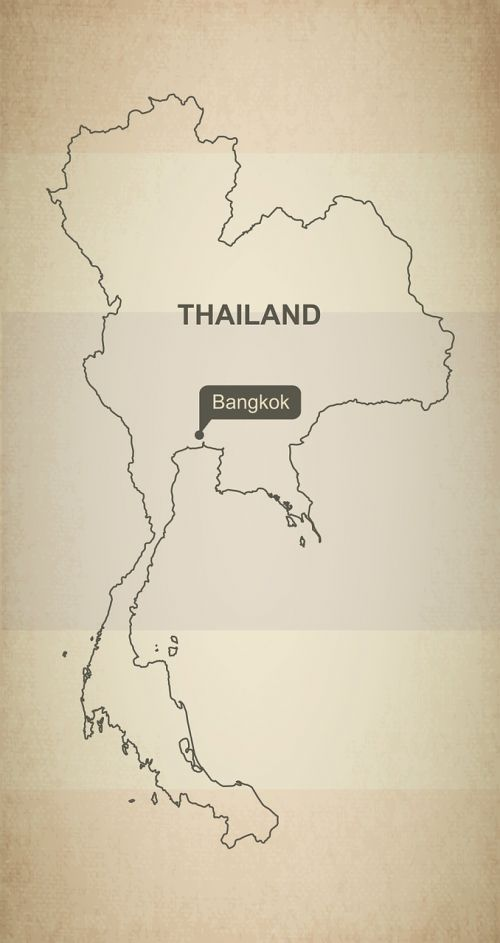 outline map thailand