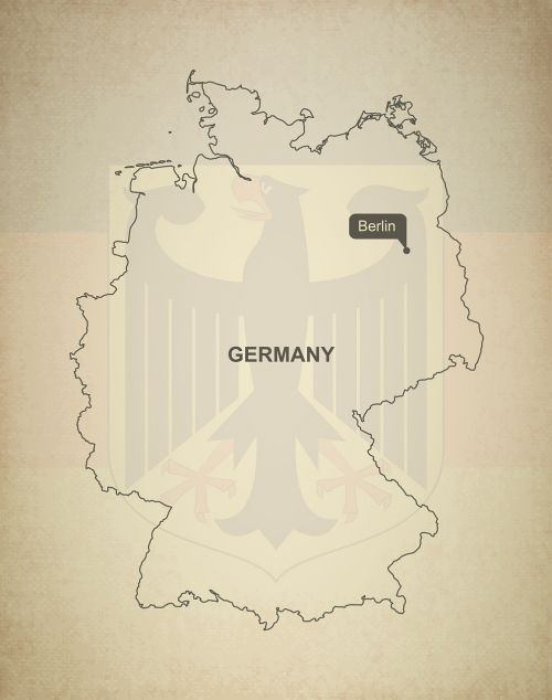 outline map germany