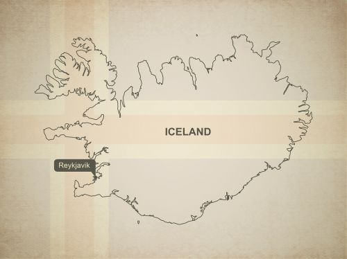 outline map iceland