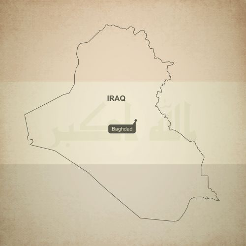 outline map iraq