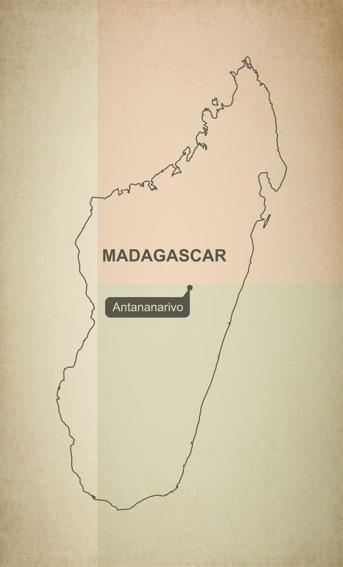 outline map madagascar