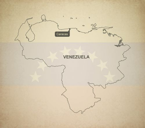 outline map venezuela