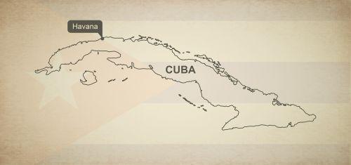 outline map cuba