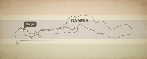 outline map gambia