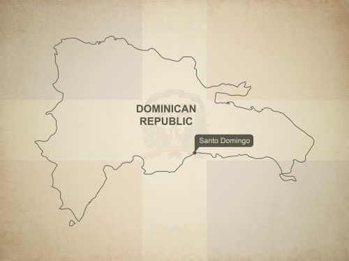 outline map dominican republic