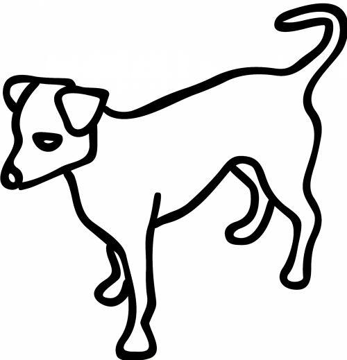 Outlined Dog